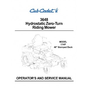 Cub Cadet 3648 Operation & Service Manual
