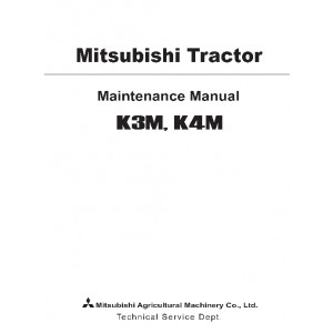 Cub Cadet Mitsubishi K3M,K4M Diesel Maintenance Manual 7500 Series