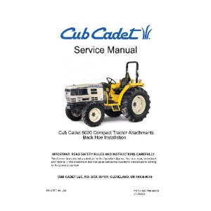 Cub Cadet 8000 Backhoe Attachment Service Manual