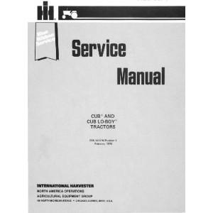 Cub and Cub Lo-boy Tractors Service Manual