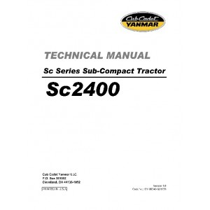 Cub Cadet Yanmar SC Series SC2400 Service/Repair Manual