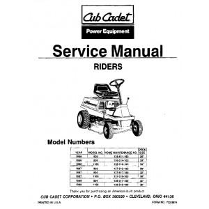 Cub Cadet 526,830,1136,802,804,1106 Service Manual