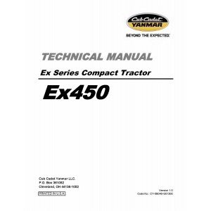 Cub Cadet Yanmar EX Series EX450 Service/Repair Manual