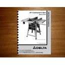 "Delta 10"" Table Saw Instruction Manual Model No. 36-465"