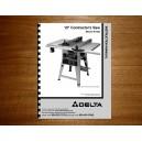 "Delta 10"" Table Saw Instruction Manual Model No. 36-465"