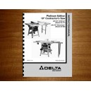 "Delta 10"" Table Saw Instruction Manual Model No. 36-477 - 36-485"