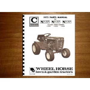 wheel horse c series parts manual no c 100 120 160 rh manuals depot com 1974 Wheel Horse C120 Lawn Tractor wheel horse c120 service manual