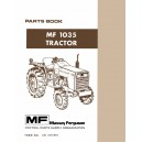 Massey Ferguson MF-1035 Parts Book