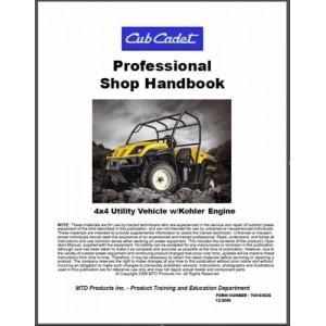 cub cadet utility vehicle w kohler engine professional shop service rh manuals depot com Cub Cadet Repair Manuals Cub Cadet Repair Manuals