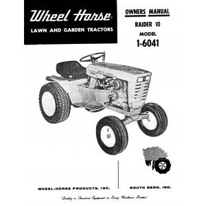 Wheel Horse Raider 10 1-6041-P Owner's Manual