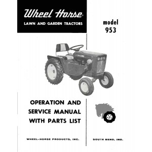 Wheel Horse 953 Operators,service,parts Manual