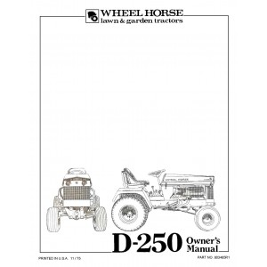 Wheel Horse D250 Operators Manual