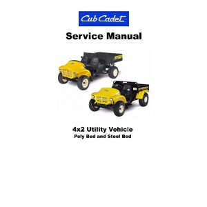 Cub Cadet 4 x 2 Country Utility Vehicle Service Manual