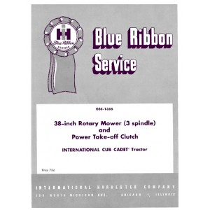 IHCub Cadet 38 Rotary Mower & PTO Clutch Service Manual