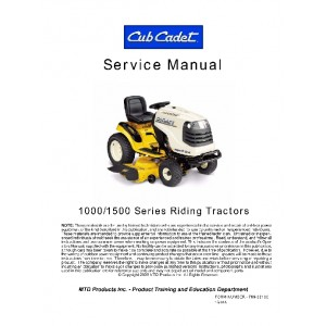 Cub Cadet 1000 & 1500 Series Service manual