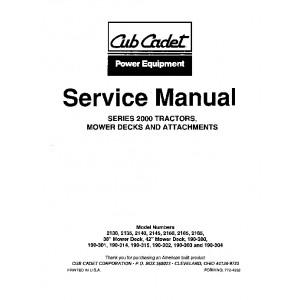 Cub Cadet 2000 Series Service Manual