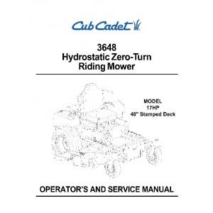 Cub Cadet 3648 Operation & Service Manual
