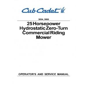 Cub Cadet 3654,3660 Operation & Service Manual