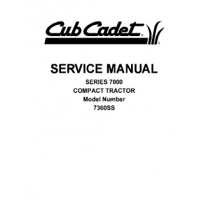 Cub Cadet 7000 Series Model No. 7360SS Service Manual