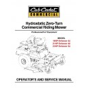 Cub Cadet Hydrostatic Commercial ZeroTurnService Manual Enforcer 44, 48,54