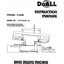 DoAll Band Saw Operators Manual Model No. C-650S and C/1000