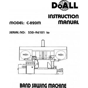 DoAll Band Saw Operators Manual Model No. C-820M