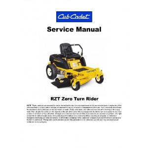 Cub Cadet RZT22 & RZT17 Service Manual