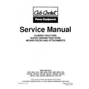 Cub Cadet Service Manual 772-4166