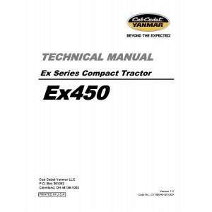 Cub Cadet Yanmar EX Series EX450 Service/Repair Manual