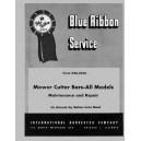McCormick Hay Machines Service Manual-Mower Cutter Bars