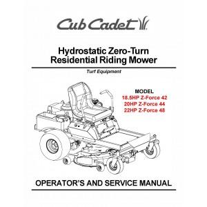 Cub Cadet Hydrostatic Zero-Turn Residential Riding Mower Z-Force 42-44-48