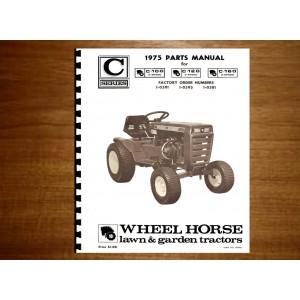 Wheel Horse C series Parts Manual No.C-100 -120 - 160
