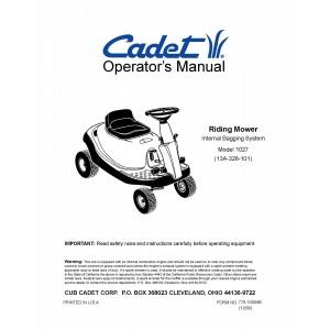 Cub Cadet Owners Manual Model No. 1027 (13A-328-101)