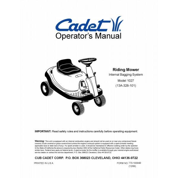 Cub cadet operator s manuals u0026 Parts Lists