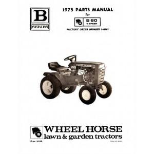 Wheel Horse B-80 Lawn Tractor Parts Manual