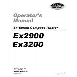 Cub Cadet Yanmar Operator Manual Model EX2900 & EX3200