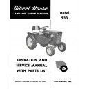Wheel Horse 953 op,srv,parts